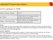 2016 Residential Wastewater Rates